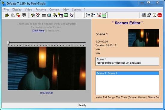 DVdate - Scenes Editor