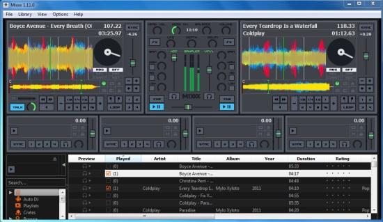 Mixxx - Interface