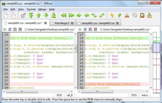 Diffuse Merge Tool - Editing
