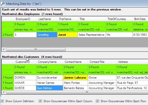 SQL Locator
