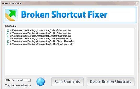 Broken Shortcut Fixer