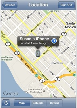 Find my iPhone on map