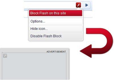 FlashBlock Chrome Extension