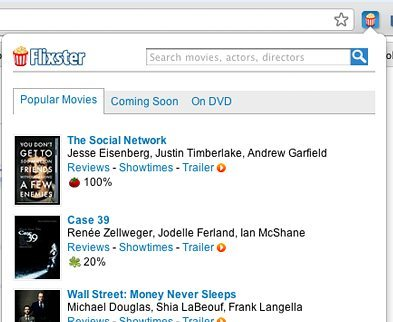Flixster Movies Chrome Extension
