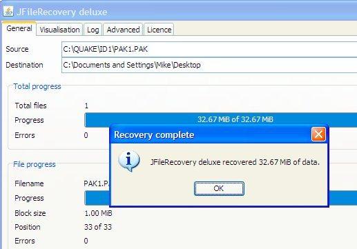 JFileRecovery Deluxe
