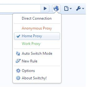 Proxy Switchy Chrome Extension