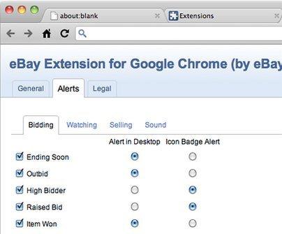 ebay chrome alerts
