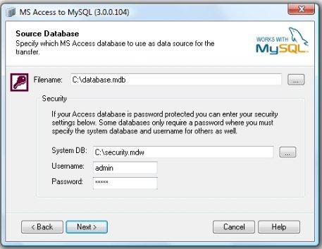 Access to MySQL