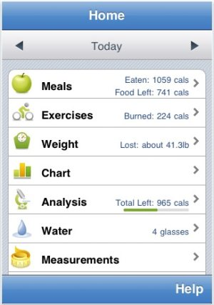 Calorie Counter iPhone