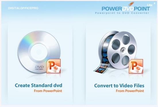 PowerDVDpoint - Home Screen