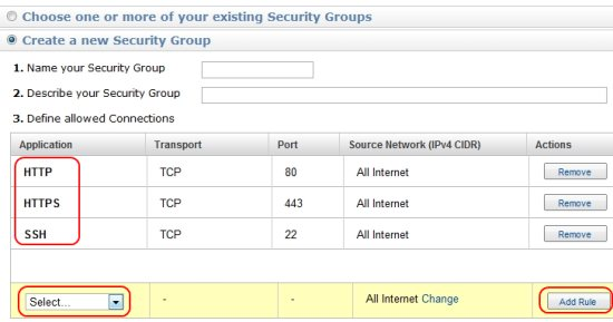Amazon EC2 Firewall Settings
