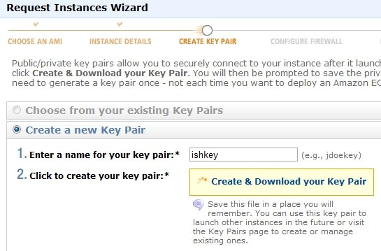 Amazon EC2 key pair