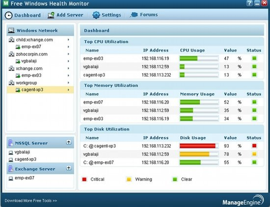 Windows Health Monitor Dashboard