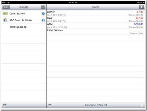 Cash Flow iPad