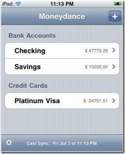 Moneydance iPad