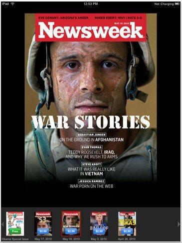 Newsweek app iPad