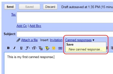Save canned response