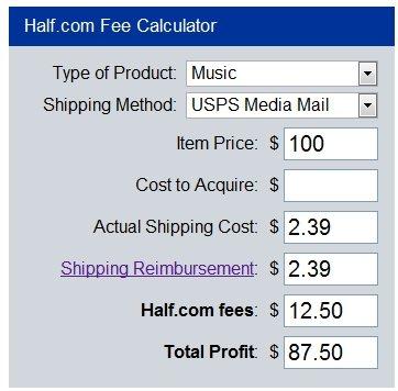 half.com fee