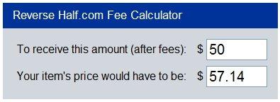 half.com reverse fee