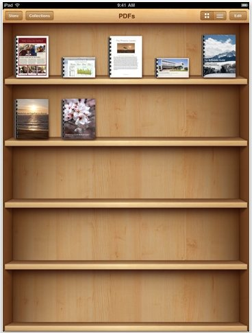 iBooks App iPad