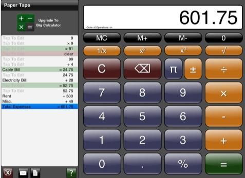Big Calculator iPad