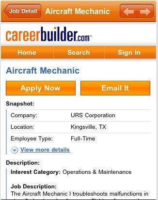 CareerBuilder iPad