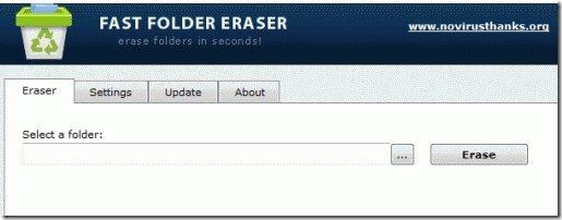 Fast Folder Eraser