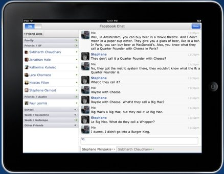 Friendly Facebook iPad