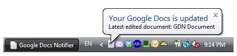 Google Docs Notifier