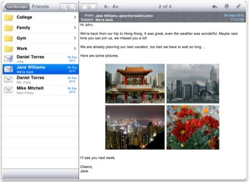Pst Mail Lite iPad