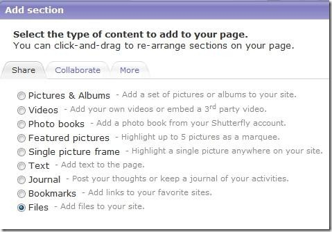 Shutterfly Sites Tools