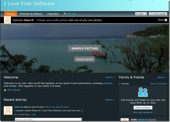 Shutterfly Sites
