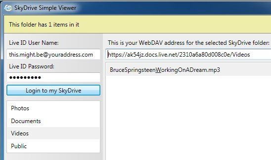 SkyDrive Simple Viewer