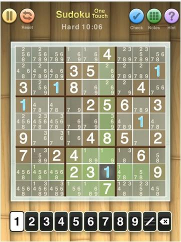 Sudoku One Touch iPad