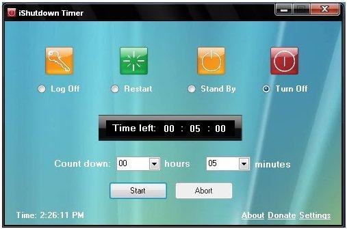 iShutdown Timer