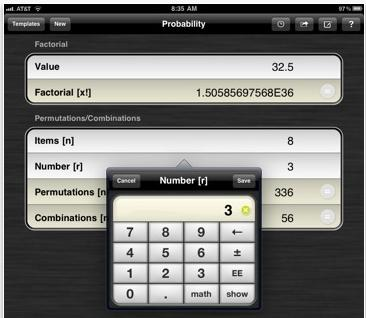 powerone scientific calculator ipad