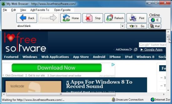 Blade Runner - Web Browser