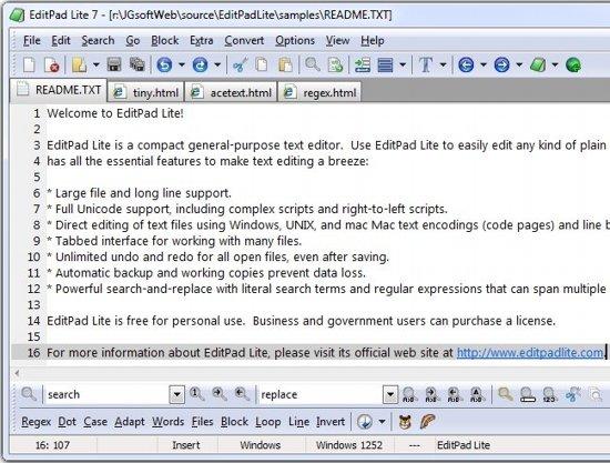 Editpad Lite text editor
