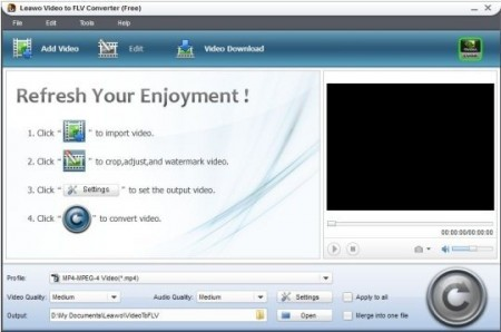 leawo free video to flv converter