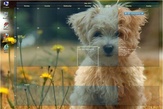 desktopcal free desktop calendar