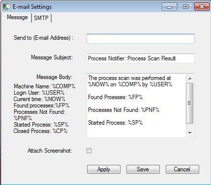 email settings PN