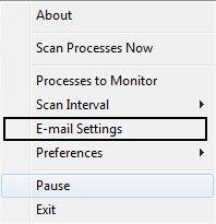 select email settings PN