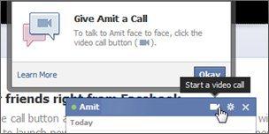 social hangouts calling screen