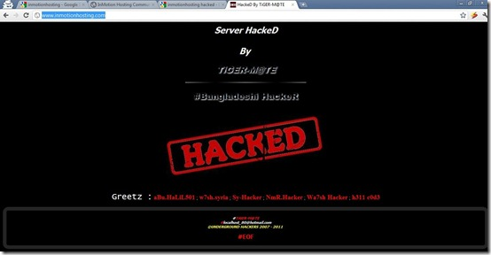 Inmotion Hacked