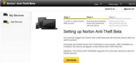 norton anti-theft download