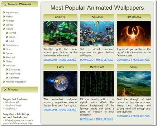 Animated Wallpapers Windows 7