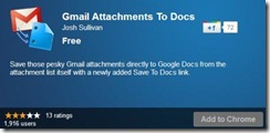 Gmail attachments to Google Docs
