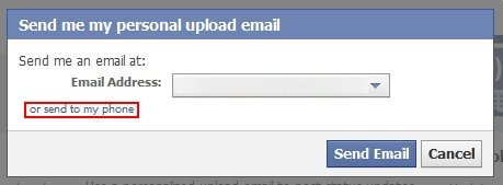 how to update facebook status via email