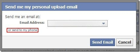 How to update Facebook status via Email 1
