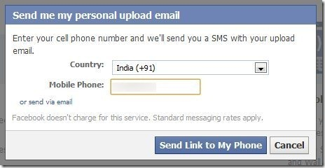 How to update Facebook status via Email 2